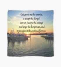 SUNSET OVER THE LAKE SERENITY PRAYER Scarf