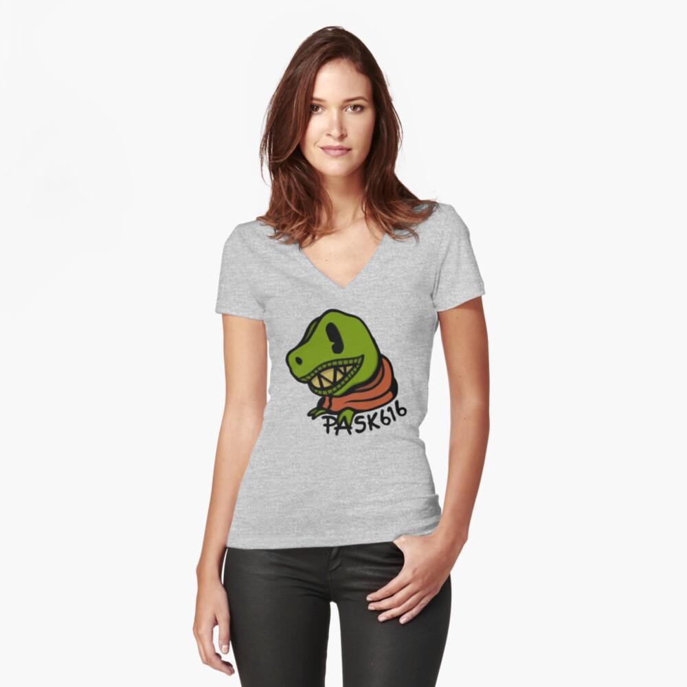 TODD TX Tailliertes T-Shirt mit V-Ausschnitt