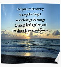 BE BLESSED SERENITY PRAYER SUNRISE PHOTO Poster