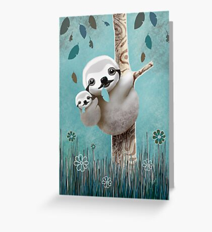 Baby Sloth Daylight Greeting Card