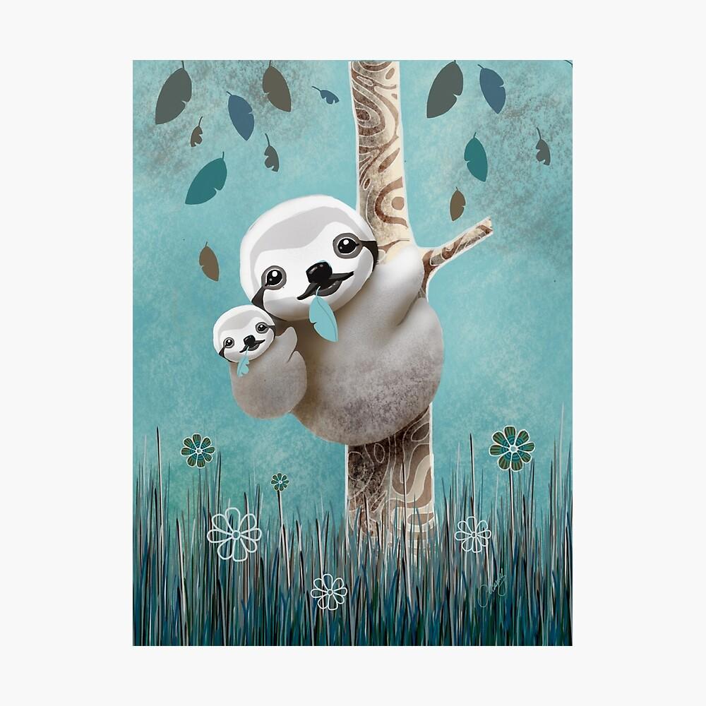 Baby Sloth Daylight Lámina fotográfica