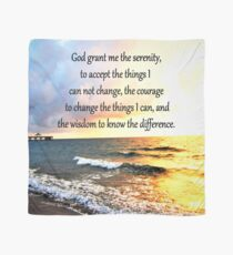 AWE INSPIRING SERENITY PRAYER SUNRISE DESIGN Scarf