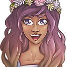 Snapchat Flower Crown - Summer Girl Sunshine Art Prints by simplydikka