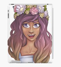 Snapchat Flower Crown - Summer Girl Sunshine Art Prints iPad Case/Skin