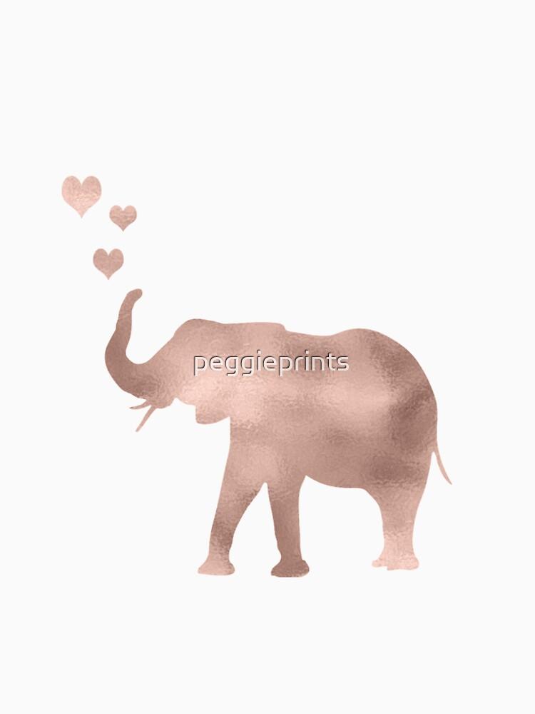 Elefantenliebe - Roségoldfolie von peggieprints