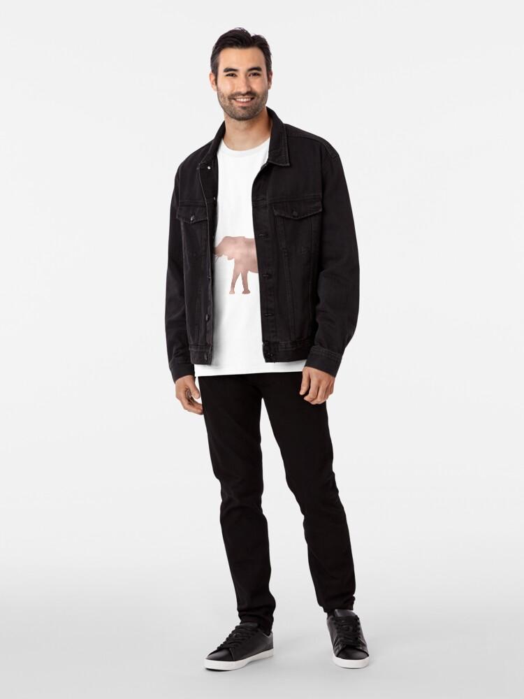 Alternative Ansicht von Elefantenliebe - Roségoldfolie Premium T-Shirt