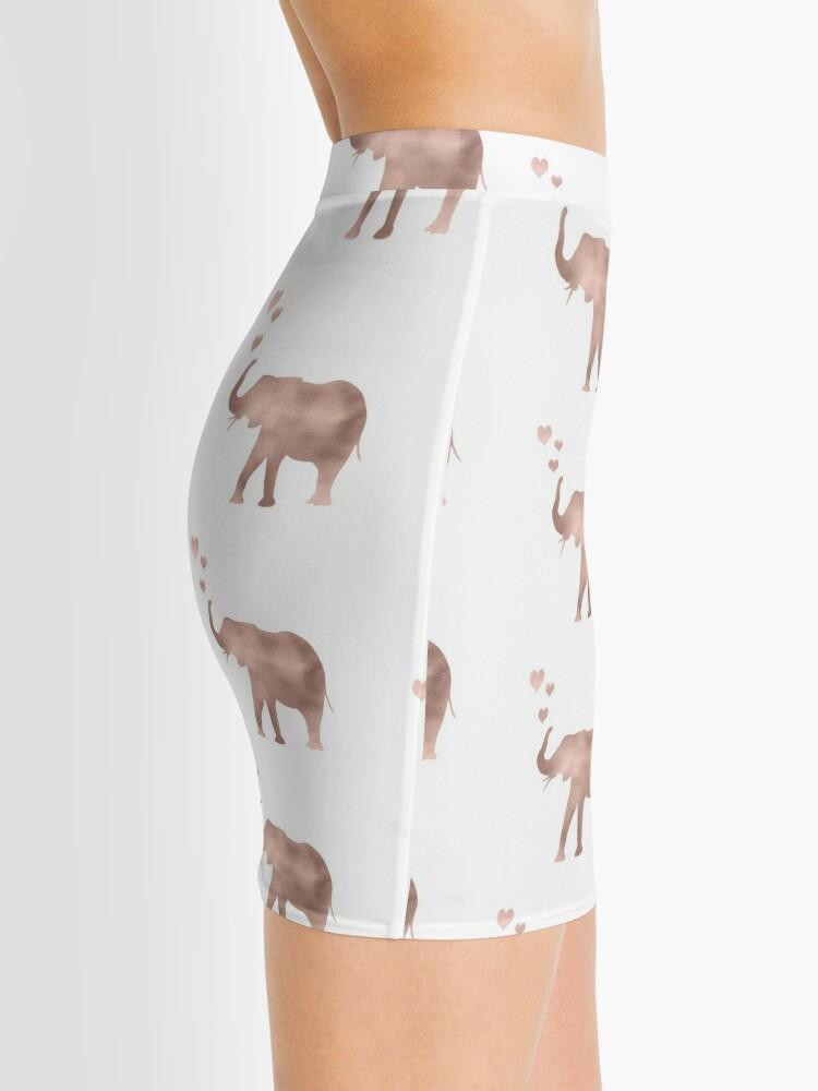 Vista alternativa de Minifalda Elefante amor - hoja de oro rosa
