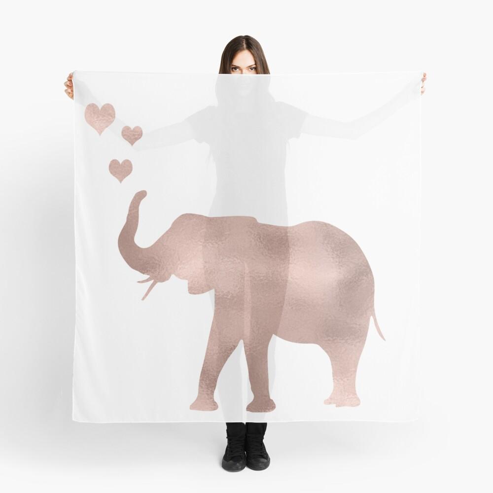 Elefante amor - hoja de oro rosa Pañuelo