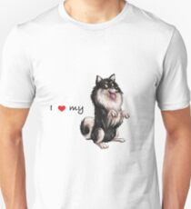 I Heart My Finnish Lapphund - Black and Cream - Beg Unisex T-Shirt