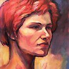 Portrait of Vasiliki by Roz McQuillan