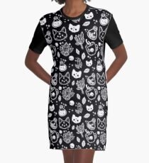 Herb Witch // Black & White Graphic T-Shirt Dress