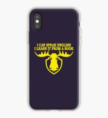 I Can Speak English, I Learn It From a Book iPhone Case