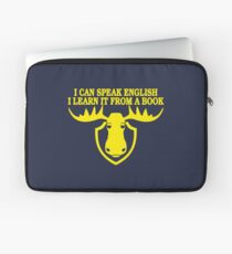 I Can Speak English, I Learn It From a Book Laptop Sleeve