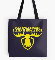 I Can Speak English, I Learn It From a Book Tote Bag
