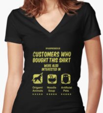 Customers who bought ... Women's Fitted V-Neck T-Shirt