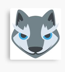 Cartoon Wolf Canvas Print