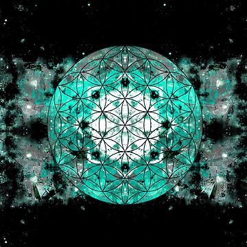 flower of life teal grey 2 by filippobassano