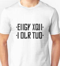 FUCK YOU hidden message black/gray Unisex T-Shirt