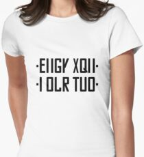FUCK YOU hidden message black/gray Womens Fitted T-Shirt