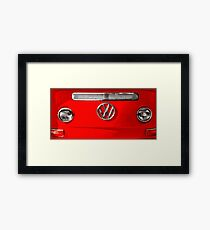 Volkswagen combi Red Framed Print