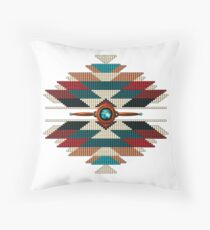 Southwest Native American Sunburst Throw Pillow