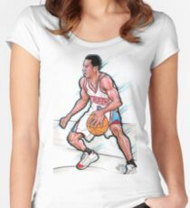 ALLEN IVERSON / SKETCH COLLECTION Women's Fitted Scoop T-Shirt