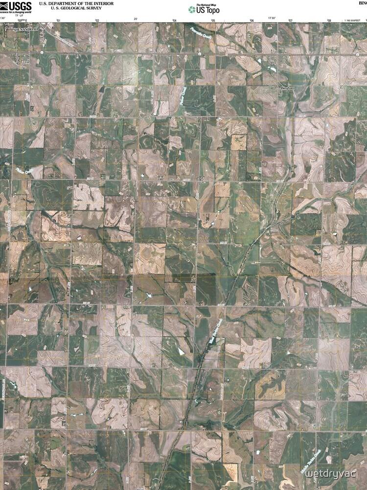 USGS TOPO Maps Iowa IA Bingham 20100505 TM von wetdryvac