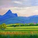 Mt Warning with Cane Fields #3  by Virginia McGowan
