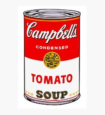 Campbell's Tomato Soup Can - Andy Warhol Photographic Print