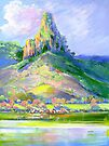 Page's Pinnacle , Numinbah National Park Queensland  by Virginia McGowan