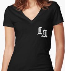Yellow Claw Los Amsterdam black Women's Fitted V-Neck T-Shirt