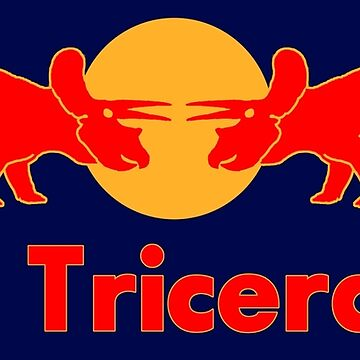 Red Triceratop, Prehistoric energy drink by ideasfinder