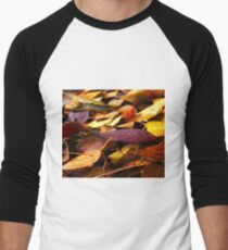 Fall Leaves Close Up Men's Baseball ¾ T-Shirt