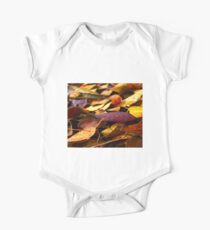 Fall Leaves Close Up One Piece - Short Sleeve