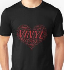 Vinyl Records Heart Unisex T-Shirt