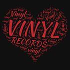 Vinyl Records Heart by AHobbyAJob
