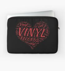 Vinyl Records Heart Laptop Sleeve