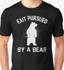 Exit Pursued By A Bear Unisex T-Shirt