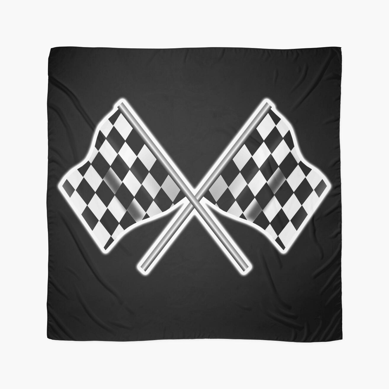Race Car Checkered Flag Crossed Motorsport Win Winner