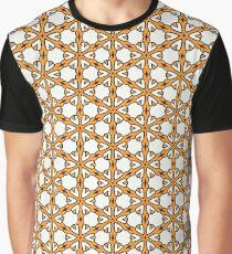 Retro orange abstract flower. Graphic T-Shirt