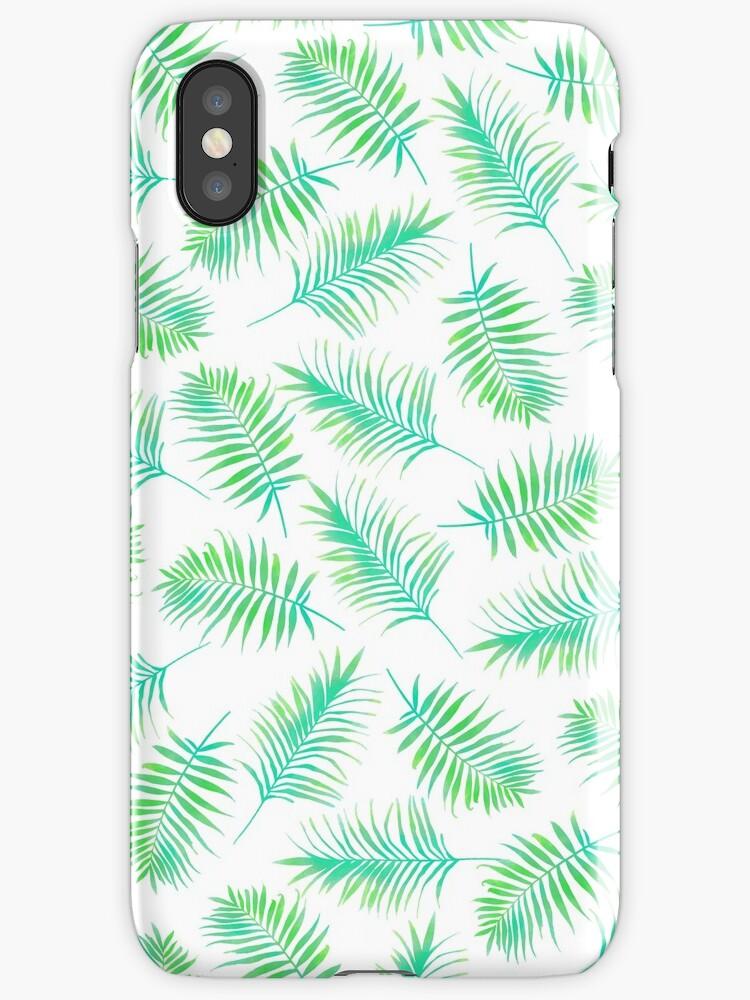 Vinilos y fundas para iPhone «Hojas de palma, Impresión tropical ...