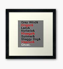 Direwolves & Dragons Framed Print