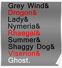 Direwolves & Dragons Poster