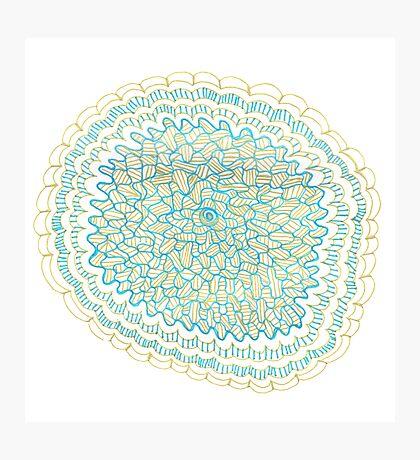 Gold & Azure Mandala Photographic Print