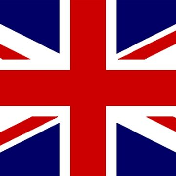 Union Jack, British Flag, UK, United Kingdom, Pure & simple, 1:2 by TOMSREDBUBBLE