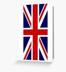 British, Union Jack, PORTRAIT, Flag, 1;2, UK, GB, United Kingdom, Pure & simple  Greeting Card