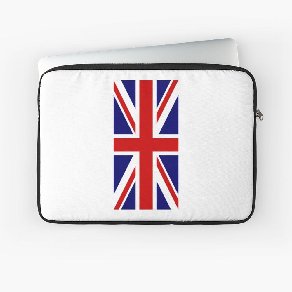 British, Union Jack, PORTRAIT, Flag, 1;2, UK, GB, United Kingdom, Pure & simple  Laptoptasche