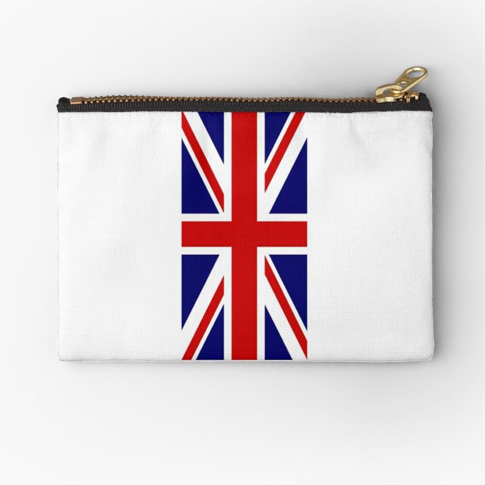 British, Union Jack, PORTRAIT, Flag, 1;2, UK, GB, United Kingdom, Pure & simple  Täschchen