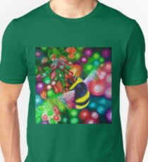 Bumblebee - Bee Wildlife and Colourful Flowers Unisex T-Shirt