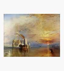TURNER, The Fighting Temeraire, 1839, by Joseph Mallord William Turner. on White Photographic Print